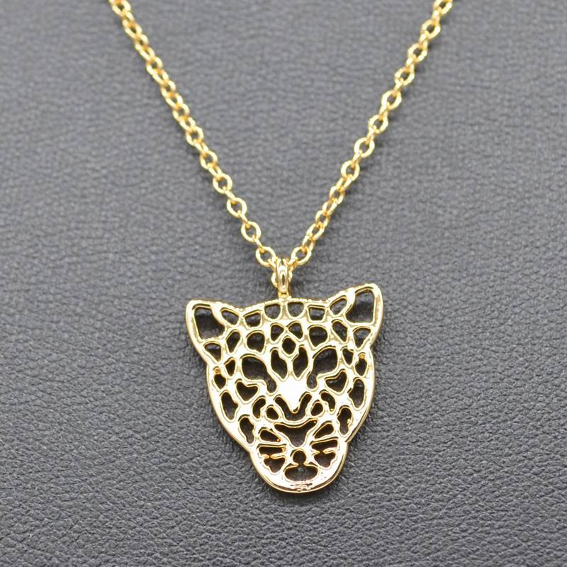 Retail Hot Selling Gold Tiger Necklace Leopard Charm Animal Jewelry Silver Tiger Animal Lovers Gift