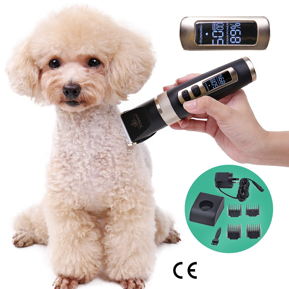 New Professional Low noise Pet Cat Dog Trimmer Electric Rechargeable Grooming Clipper Remover Shaver Rabbit Haircut Hair Machine