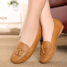 2016new fashion tassels soft bottom tendon at the end shoes in the elderly flat work shoes comfortable women shoes free shipping