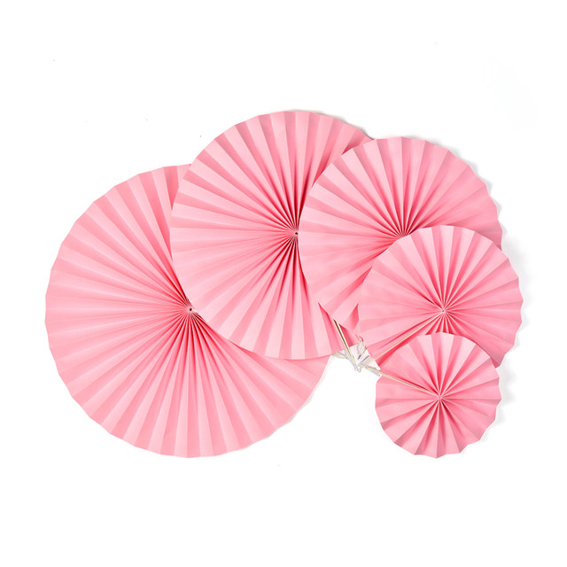 Hanging Paper Folding Fans Flower Honeycomb Tissue Paper Fan For