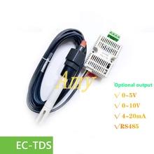 EC transmitter TDS mô đun cảm biến dẫn 4 20mA điện áp đầu ra analog RS485 đầu ra