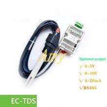 Trasmettitore EC TDS modulo sensore di conducibilità 4 20mA tensione di uscita analogica RS485 di uscita