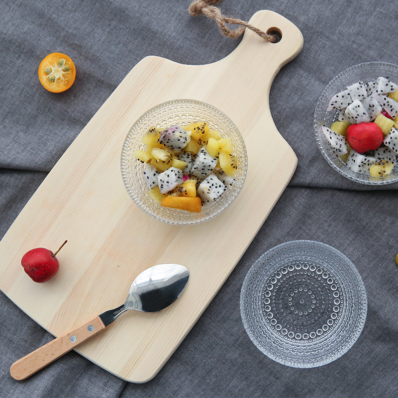 1 Pcs High Quality Beads Glass Bowls Household Ice Cream Desserts Fruit Salad Bowls Korean Creative Tableware Solid Round Bowls in Bowls from Home Garden