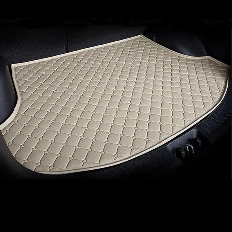 Tapis de coffre de doublure de cargaison en cuir sur mesure pour Mini 2/4 portes Clubman Countryman tapis de protection de boue arrière plateau de plancher de bagages JH03 - 3