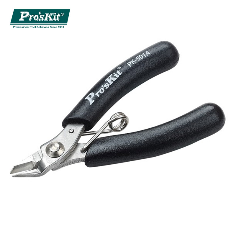 Pro'skit 1PK-501A Micro Cutting Plier mini cable wire cutter Stainless Steel Plier Tools Precision Portable Pliers (90mm) free shipping brand proskit 1pk 209 safe side cutting plier 22aw 0 6mm 120mm precision pliers cable cutter hand tools