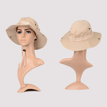 1Pc Popular New Hot Selling Solid Bucket Hat Acrylic & Cotton Fishing Wide Cap Brim Hat Outdoor Fishing, Hiking and Camping 58cm