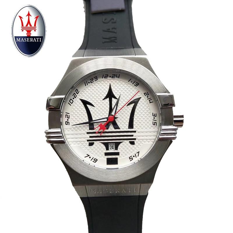 лучшая цена Maserati Top Luxury Brand men's quartz watch business watch men's waterproof casual fashion watch