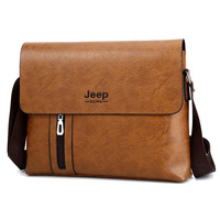 2019 Jeep Sulppai Men Messenger Bags Casual Zipper Soft Leather Solid Flap Briefcase Crossbody Shoulder Bags For Man KSL516 2M