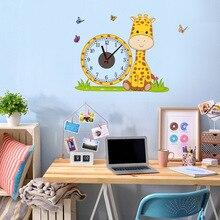 Настенные часы, стикер, креативные, сделай сам, движение, милая детская комната, мультяшный стиль, для гостиной, ремесло, настенные часы, стиль простой личности