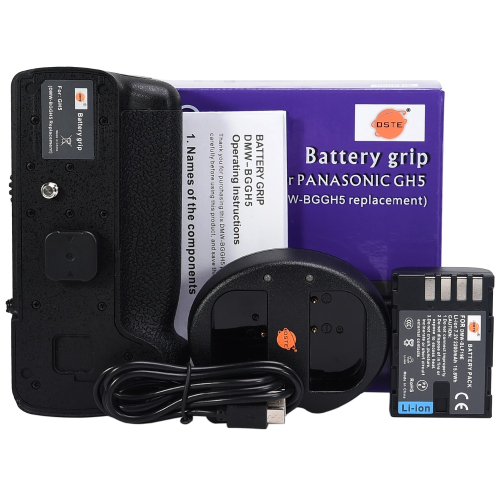 DMW-BGGH5 Battery Grip for Panasonic DMW-GH5 GH5 Camera +DMW-BLF19E+ Dual USB Charger DMW-BGGH5GK Battery Grip