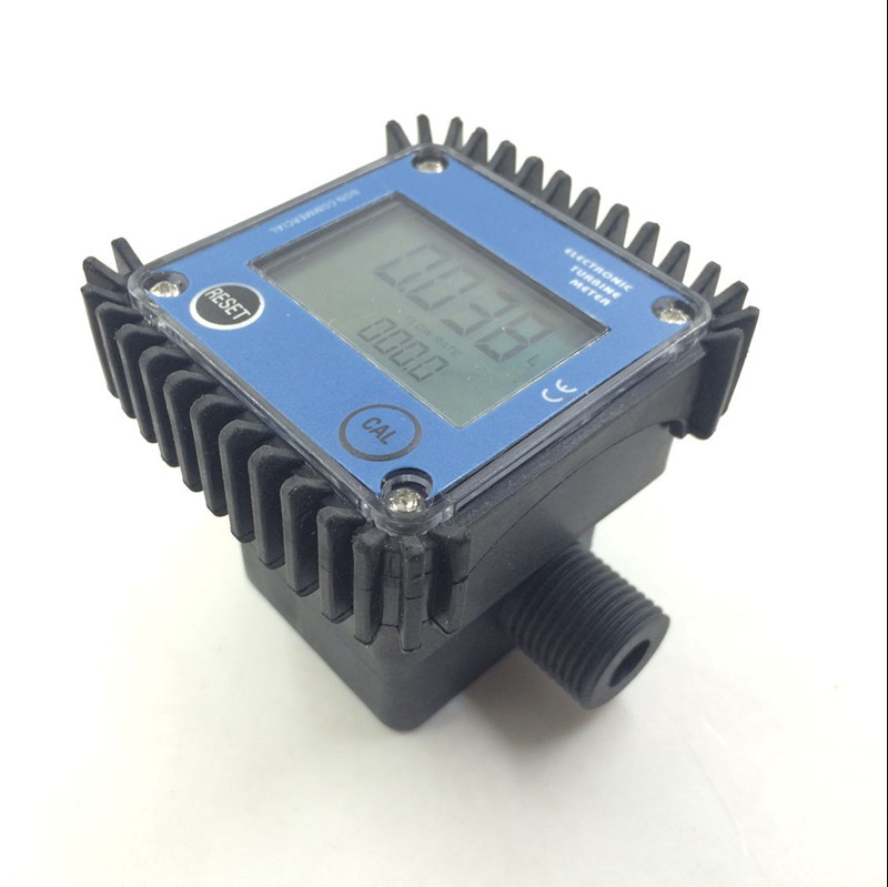 K24 turbo débitmètre numérique débitmètre Diesel carburant eau plomeria indicateur de débit portable Turbine débitmètre caudalimetro capteur