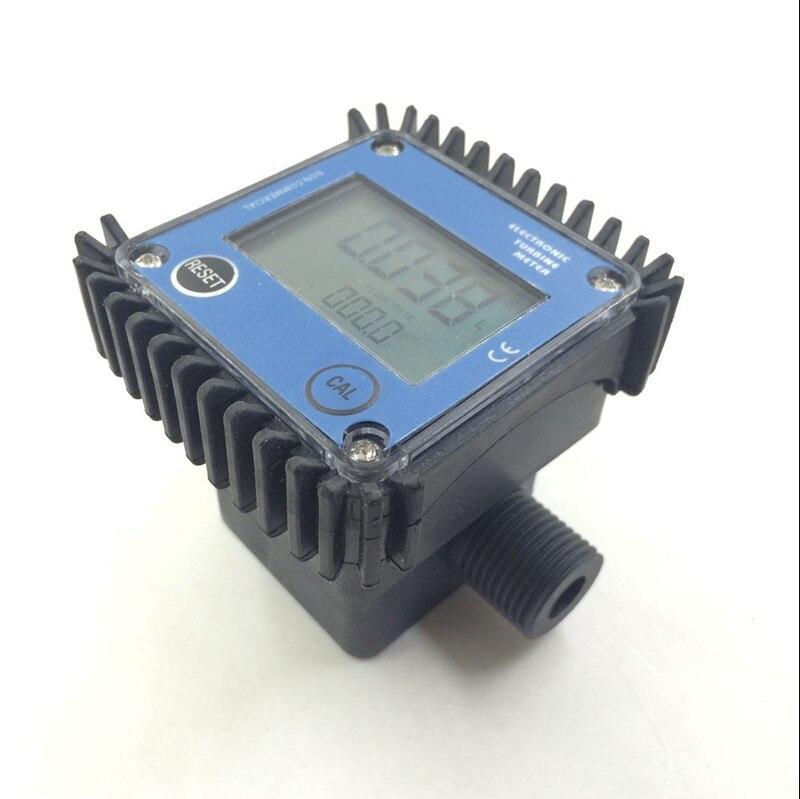 K24 turbo digital flow meter flowmeter Diesel fuel water plomeria flow indicator protable Turbine Flowmeter caudalimetro sensor k24 turbine flow meter for water