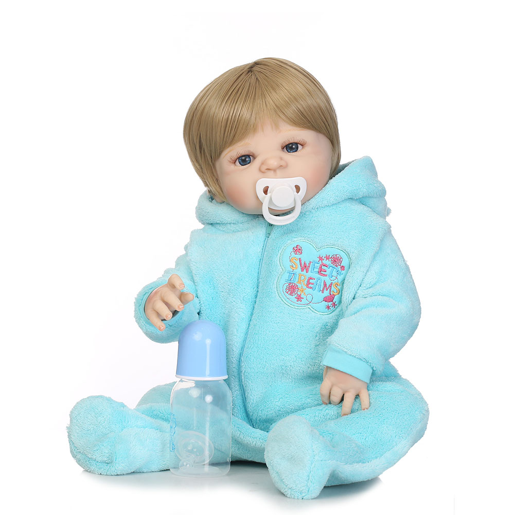 Здесь можно купить  56cm Reborn Doll Full Body Vinyl Jointed Lifelike Baby Kids Playmate Photography Props @ZJF  Игрушки и Хобби