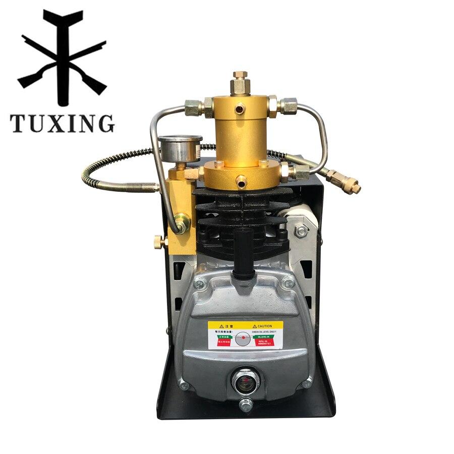 TUXING 300bar 4500psi pcp air compressor for paintball tank 220V 110V