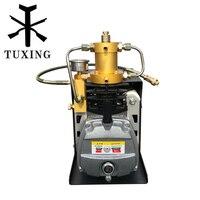TUXING 300bar pcp air compressor high pressure compressor for airfilling paintball tank 220V 110V
