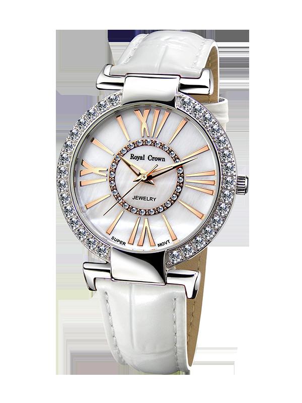 Royal Crown Jewelry Watch 6116 Italy brand Diamond Japan MIYOTA platinum