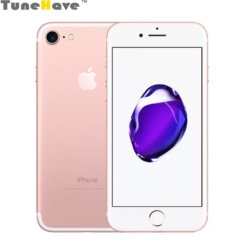 Original Unlocked Apple IPhone 7 Mobile Phone 2GB RAM 32GB/128GB/256GB IOS A10 4G LTE 12MP Quad-Core Fingerprint 1960mA Used
