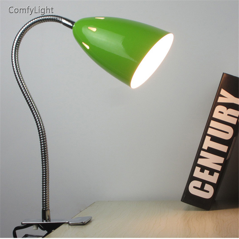 Desk Lamp reading night light Clip Office Led Desk Lamp Flexible Led Table Lamp Reading Led Light Brightness student bed light usb high brightness flexible white light led clip lamp black
