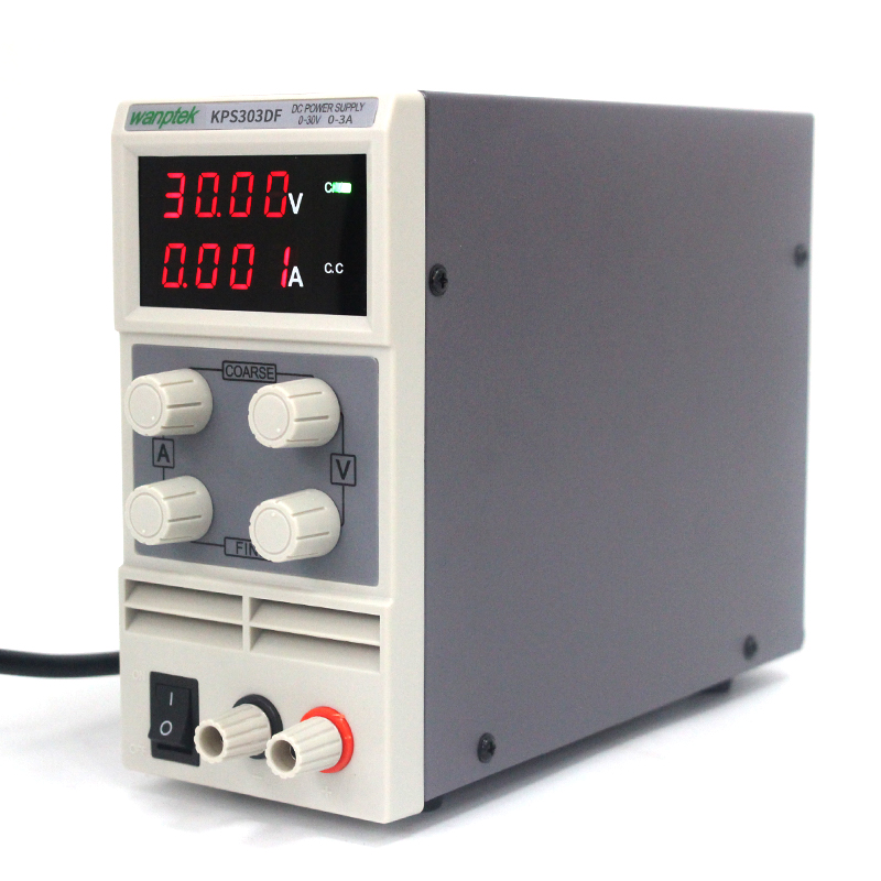 Wanptek KPS303DF 30V 3A 110V-220V 0.1V/0.001A 4 display Digital Adjustable Switch DC Power Supply mA display four digit display rps3003c 2 adjustable dc power supply 30v 3a linear power supply repair