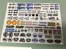 Rc speelgoed auto 2 STUKS JEEP Sticker Voor 1:10 AXIALE SCX10 JEEP Wrangler 90028 90027 Wraith RR10 AX10 Cherokee AX90047 90046 90068 JK HSP(China)