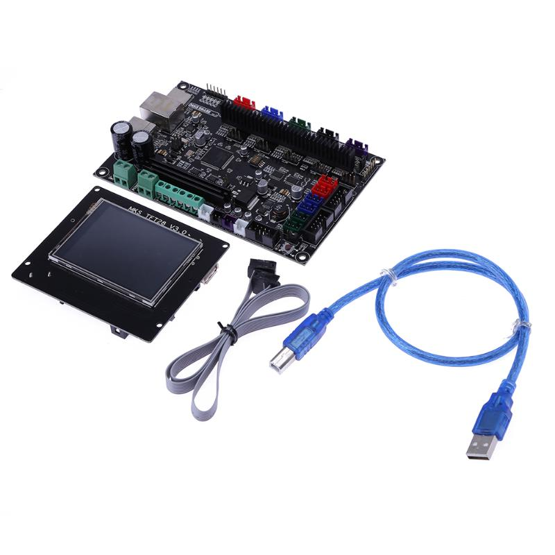3D Printer 32bit MKS SBASE V1.3 Control Board +MKS TFT28 LCD Touch Display with Flex Cable for 3D printing flsun 3d printer big pulley kossel 3d printer with one roll filament sd card fast shipping