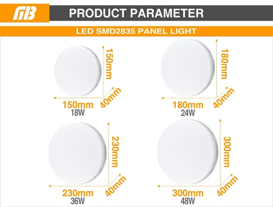 HTB1O9bdRXzqK1RjSZFoq6zfcXXai Ultra Thin LED Ceiling Lamp LED Modern Panel Light 48W 36W 24W 18W 9W 6W 85-265V Bedroom Kitchen Surface Mount Flush Panel Light