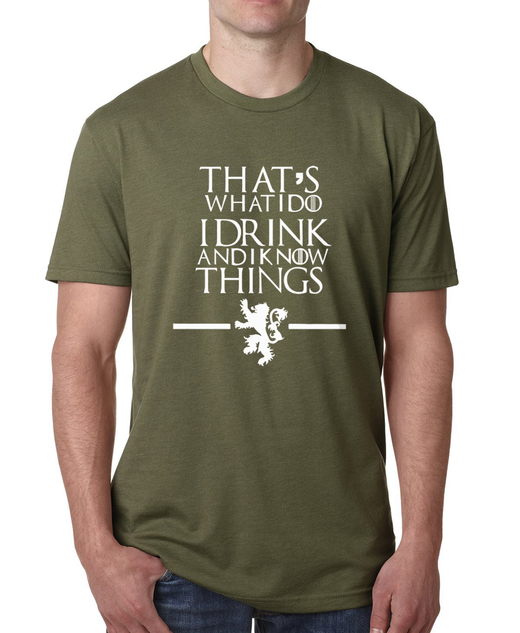 That's What I Do I Drink and I know Things t shirt men fashion streetwear cotton tops Game of Thrones top fitness clothing