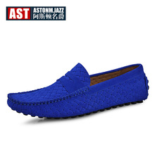 5 Colors US Size 6-10 Cow Suede Leather Slip On Mens Driving Moccasin Hollow-out Loafer Shoes Lazy Man Boat