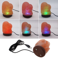 New Arrival Heart Creative Crystal Lamp Desk Light Table Lamp Natural Himalayan Salt Lamp LED Lamp Air Purifier Night Light