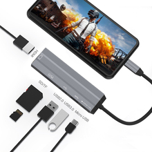 Type-C To HDMI USB 3.0 2.0 Adapter TF SD Card Reader USB C HUB For Macbook Pro Samsung Galaxy S10 S9 S8 Plus Huawei P30 P20 Pro цена и фото