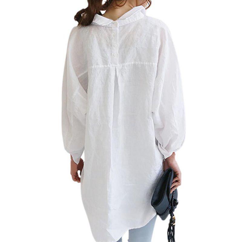 linnen lange blouse