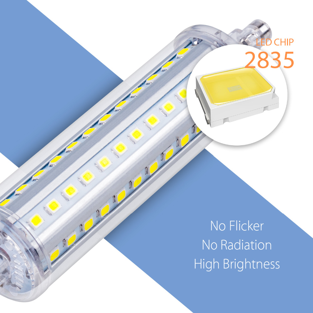 Ampoule Led r7s 78mm Lamps Tube Led Corn Bulb 220V Led R7s Horizontal Plug Lamp 118mm 135mm 189mm No Flicker Light Bulb For Home in LED Bulbs Tubes from Lights Lighting