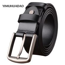 New Designe belts for males real leather-based belt classic denims male fine quality Model strap informal buckle black espresso belt luxurious