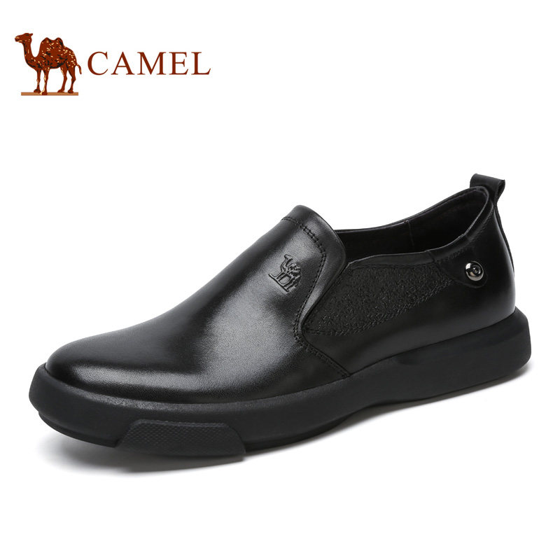 Camel Spring and Autumn Daily Casual Fashion Men' s Genuine Cow Leather Business Shoes Comfort Antiskid Wear-resistantA642155230 free shipping new spring and summer fashion men s denim jeans slim wear white pantyhose feet