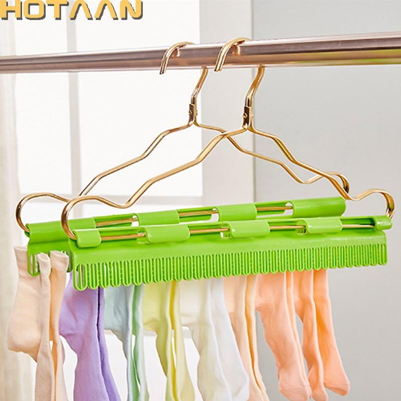 60 Black Sock Hanger Plastic Non Slip Hook Store Display Retail Business Supply