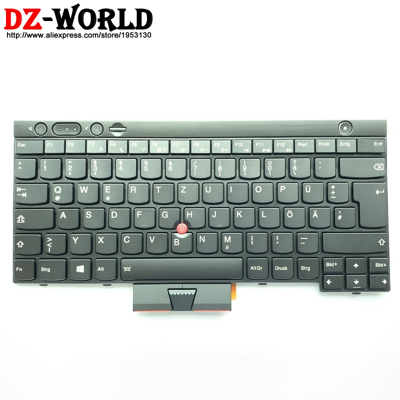 New GR DE German Backlit Keyboard For Thinkpad T430 T430i T430S X230 X230i X230 Tablet T530 T530i W530 Backlight Teclado 04X1252