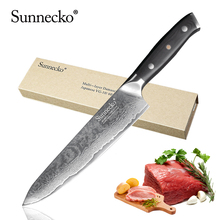 SUNNECKO Premium 8 inches Chefs Kitchen Knife Japanese VG10 Steel Blade Damascus Knives Meat Cutter G10 Handle Cooking Tools