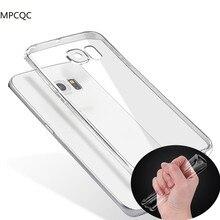 MPCQC для samsung galaxy s7 edge/galaxy note 7 clear case защитные Силиконовые Ультра Тонкий тпу Чехол для сотового телефона Samsung S7 Края