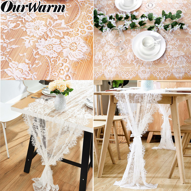 Boho Wedding Decor.Us 5 29 30 Off Aliexpress Com Buy Ourwarm Modern Lace Floral Table Runner Boho Wedding Decor White Classy Table Runner Decor Wedding Party Home