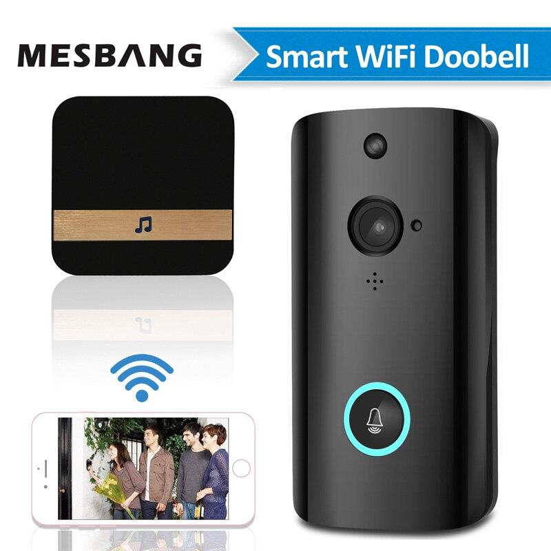 Novo vídeo wireles bateria wi-fi video da porta interfone telefone campainha da porta de bell intercom porta sem fio da câmera de apoio TF cartão