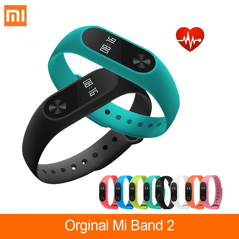 Global Version  Xiaomi Mi Band 2 Smart Fitness Bracelet Watch Wristband Miband OLED Touchpad Sleep Monitor Heart Rate Bluetooth
