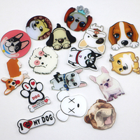 1 PCS Icon Cute Creative Cartoon Animal Husky dog pattern Badge for clothes Acrylic Pin Badges on Backpack Pins Icons