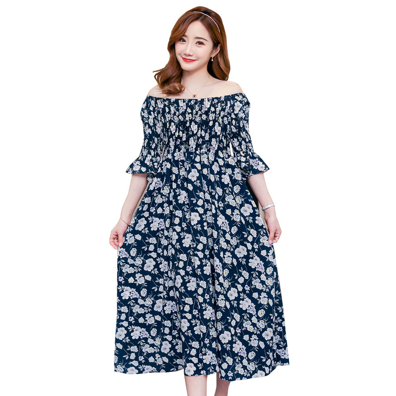 2018 New Limited Summer Korean Version Maternity Clothes Thin Pregnant Woman Long Dress Printing Hand Painted Large Size Casual