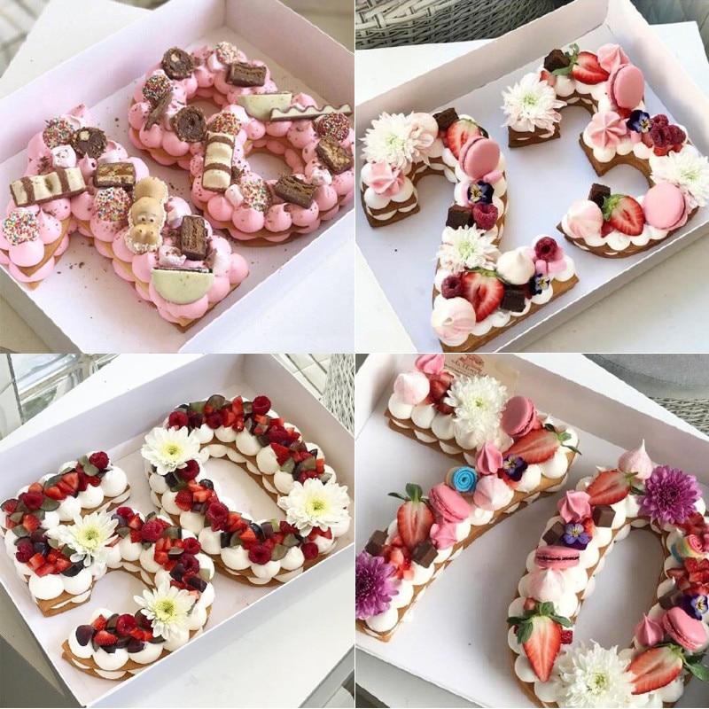 2018 Plastic Acylic Number Cake Mold Cake Decorating Tool Birthday