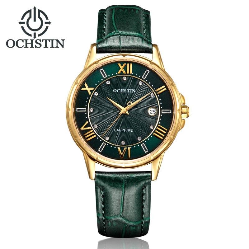 2018 femmes montres marque de luxe célèbre en cuir véritable japon mouvement montre-bracelet à Quartz femme automatique Date horloge Relogio Feminino