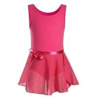 Fashion Kids Girls Gymnastics Tank Leotards Ballet Dance Wear For Toddler Sleeveless Activewear With Tutu Skirt