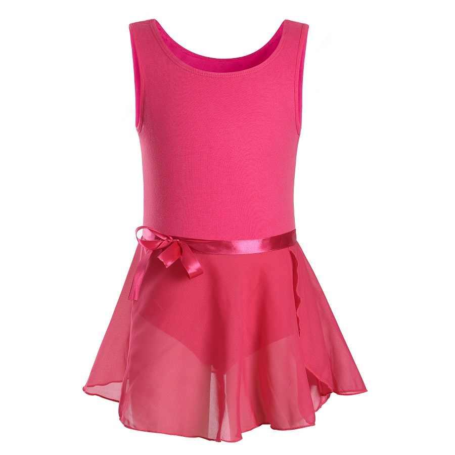 Moda Çocuk Kız Jimnastik Tankı Mayoları Bale Dans Giyim Toddler Kolsuz Unitard Tutu etek elbiseler