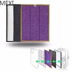 MEXI 3 Teile/satz Luftreiniger Filter Kit Für Philips AC4072 AC4074 AC4083 AC4085 AC4086 Ersetzen