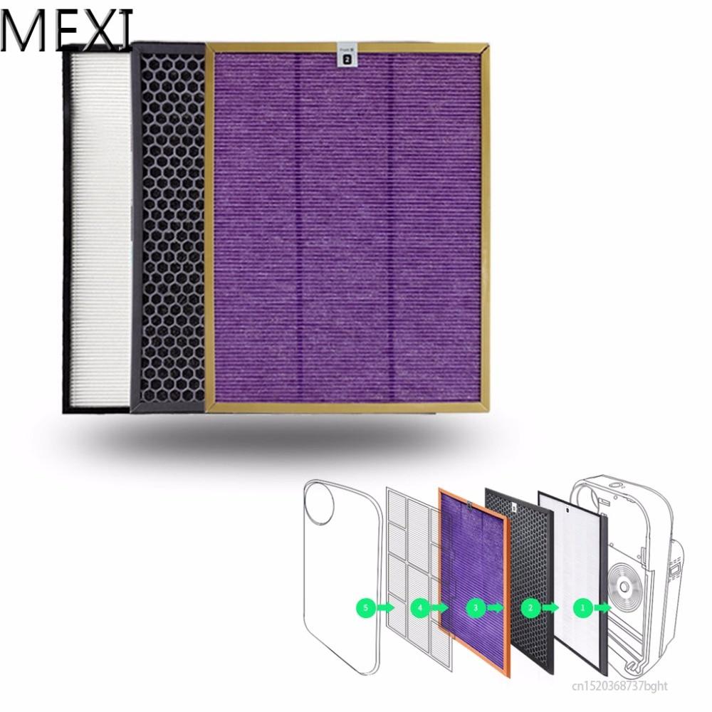 MEXI 3Pcs/Set Air Purifier Filter Kit For Philips AC4072 AC4074 AC4083 AC4085 AC4086 Replace стоимость