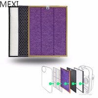 MEXI 3Pcs/Set Air Purifier Filter Kit For Philips AC4072 AC4074 AC4083 AC4085 AC4086 Replace
